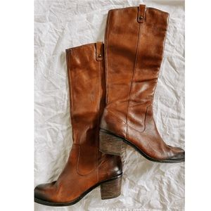 Jessica Simpson Leather Knee High Chad Boots